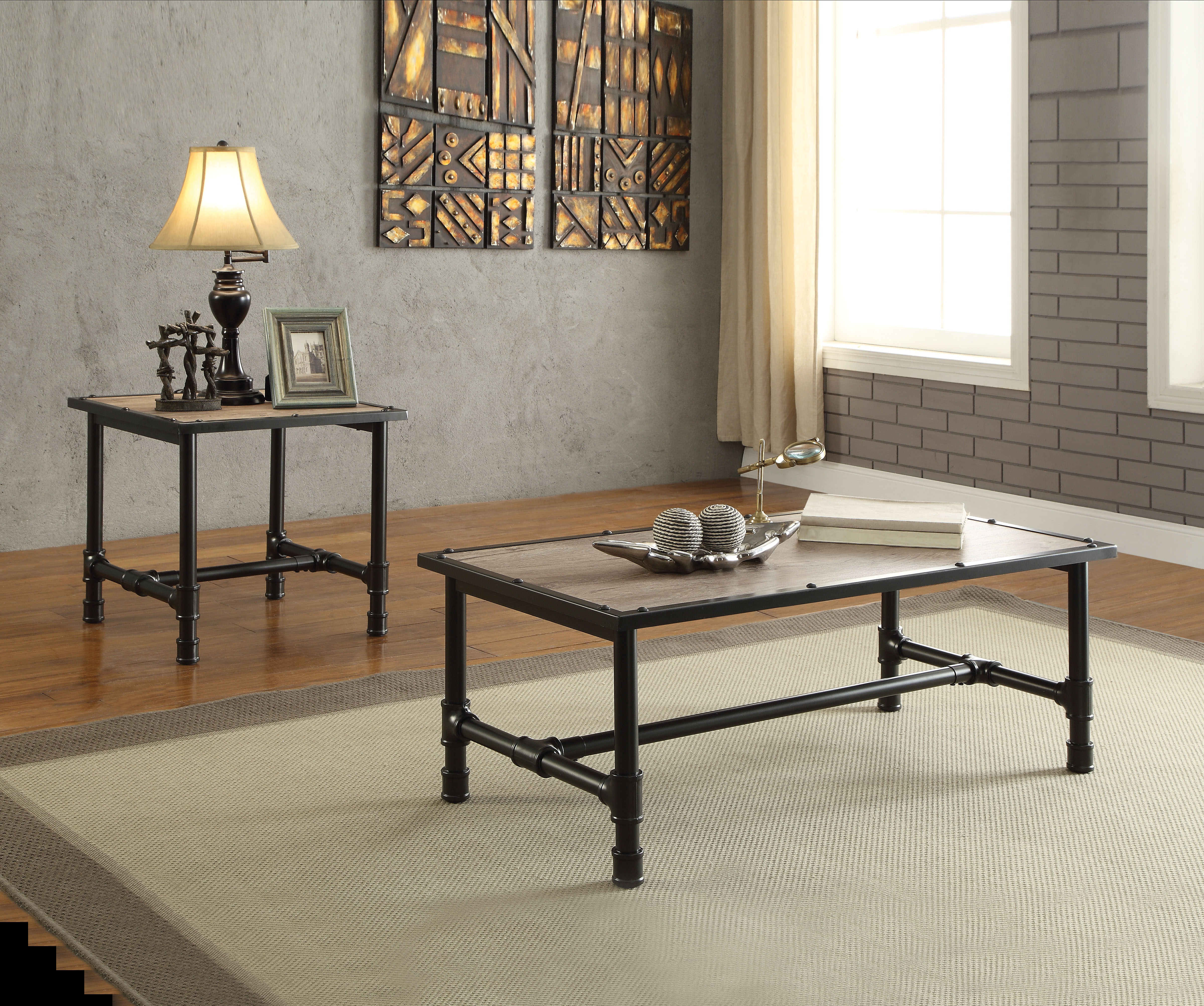 Coffee Table With Light Brown Wooden Table Top
