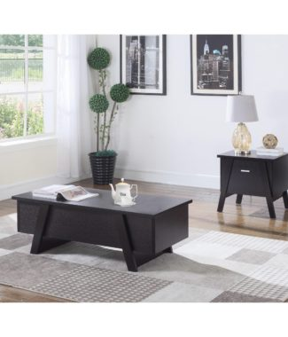 Miraculous Modern Wood And Ceramic Tile Brand New Coffee Table Set In Short Links Chair Design For Home Short Linksinfo