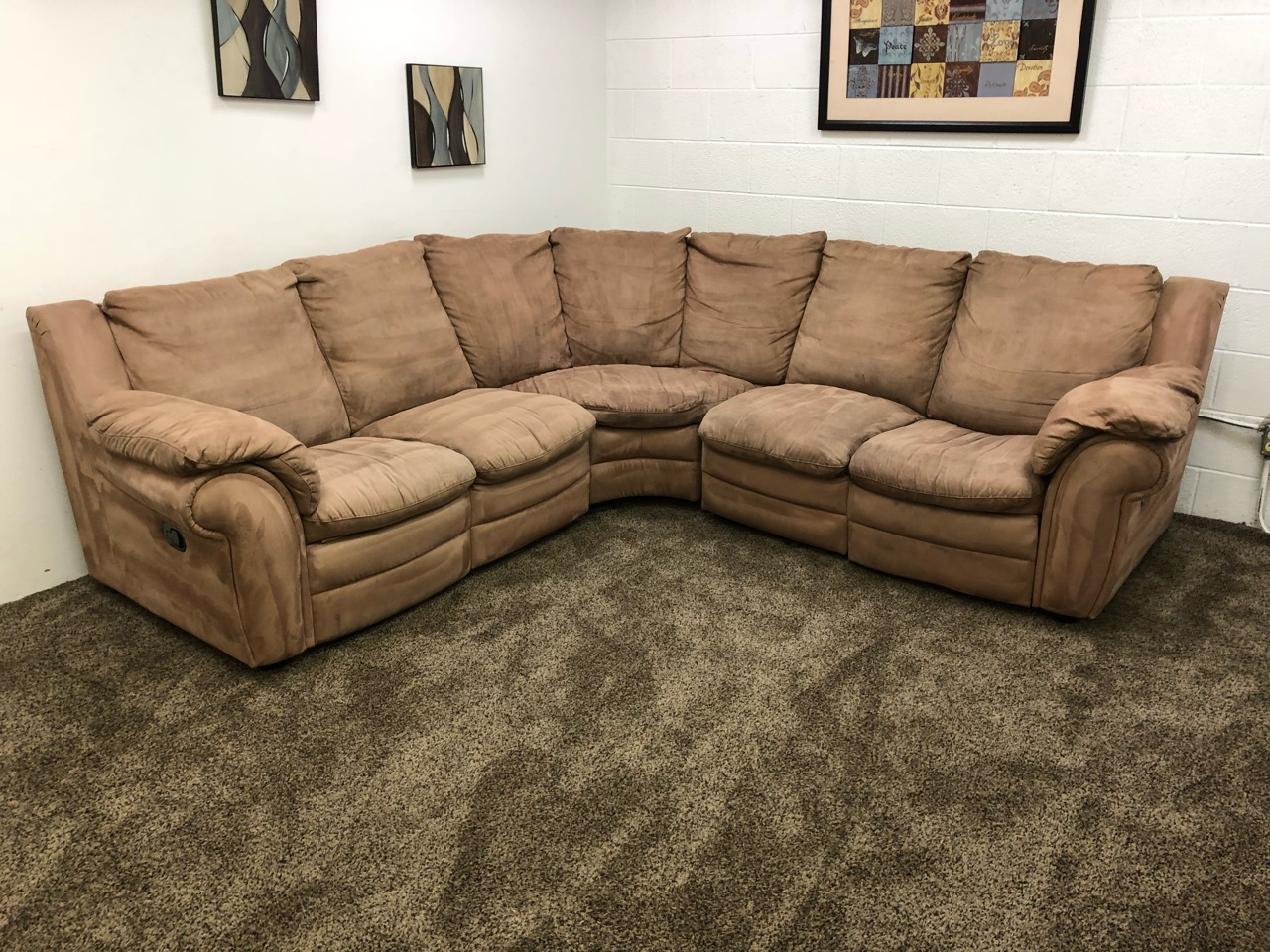 microfiber sectional sofa reserved light brown microfiber sectional sofa set with 11056