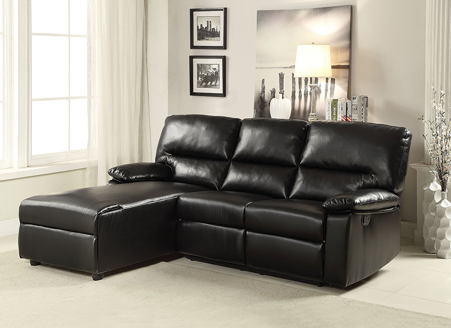 Leather Motion Sectional Sofa Home Decor 88
