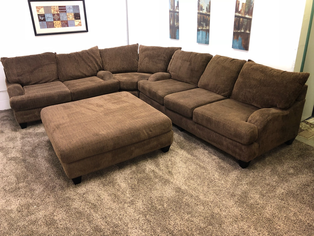 Robert Michaels Chenille Sectional Set