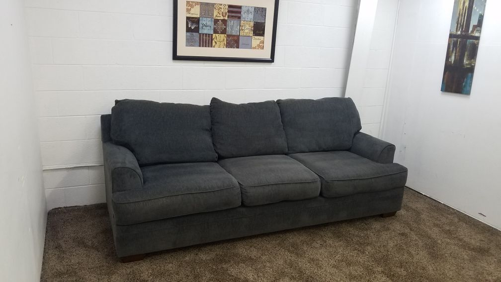 Reserved D0155 Blue Grey Microfiber Sofa Set