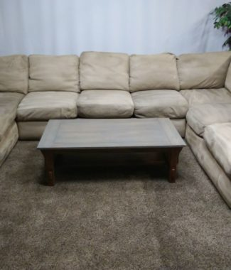 Tan/Light Brown Microfiber Sectional Sofa Set In Portland Oregon