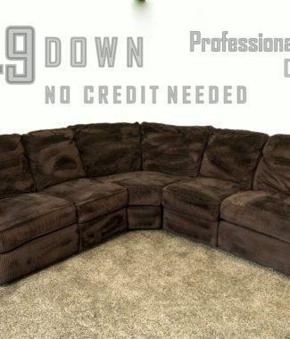 1435 3 Piece Dark Brown Corduroy L Shaped Reclining Sectional Sofa Portland Oregon