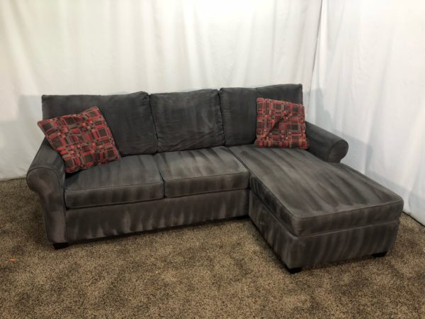 1499 Grey Fabric Sectional Sofa With Reversible Chaise Lounge