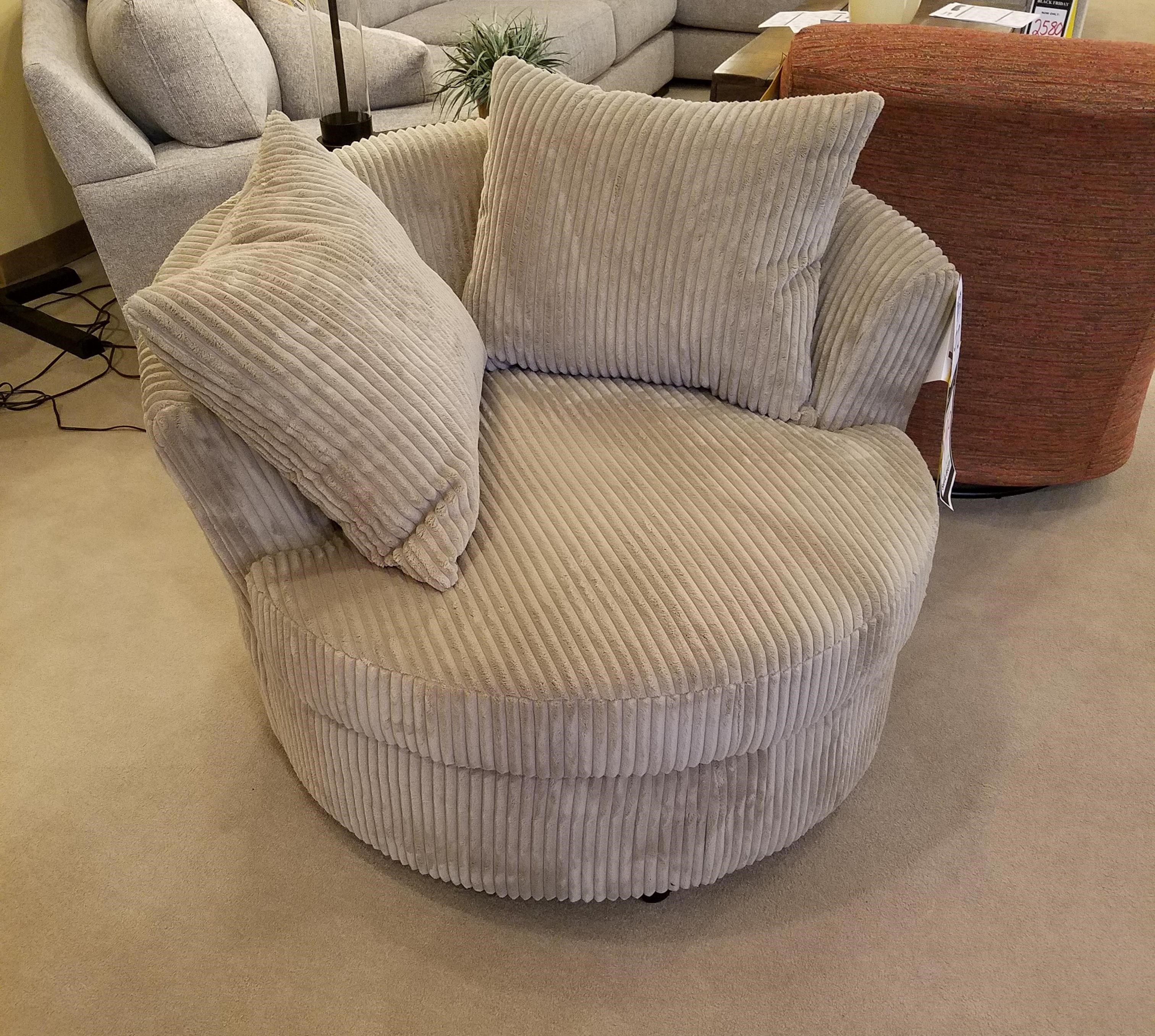 Wondrous Poly Blend Fabric Luxe Mink Colored Microfiber Tan Cuddler And Swivel With Matching Accent Pillows Pdpeps Interior Chair Design Pdpepsorg