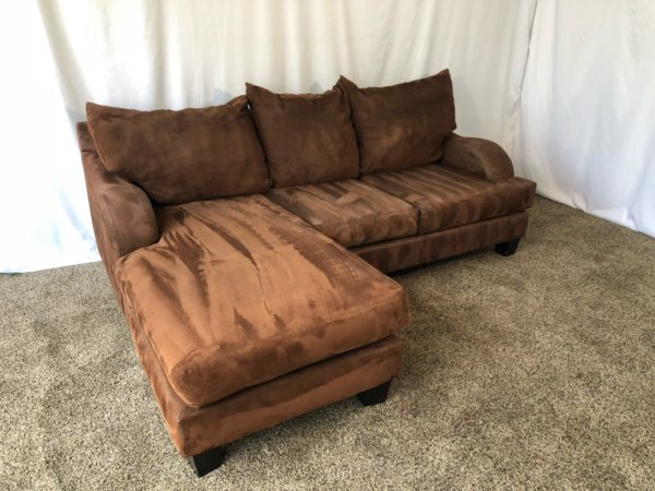 Fabulous 1523 Chocolate Brown Microfiber Sectional Sofa With Reversible Chaise Lounge Set Gmtry Best Dining Table And Chair Ideas Images Gmtryco