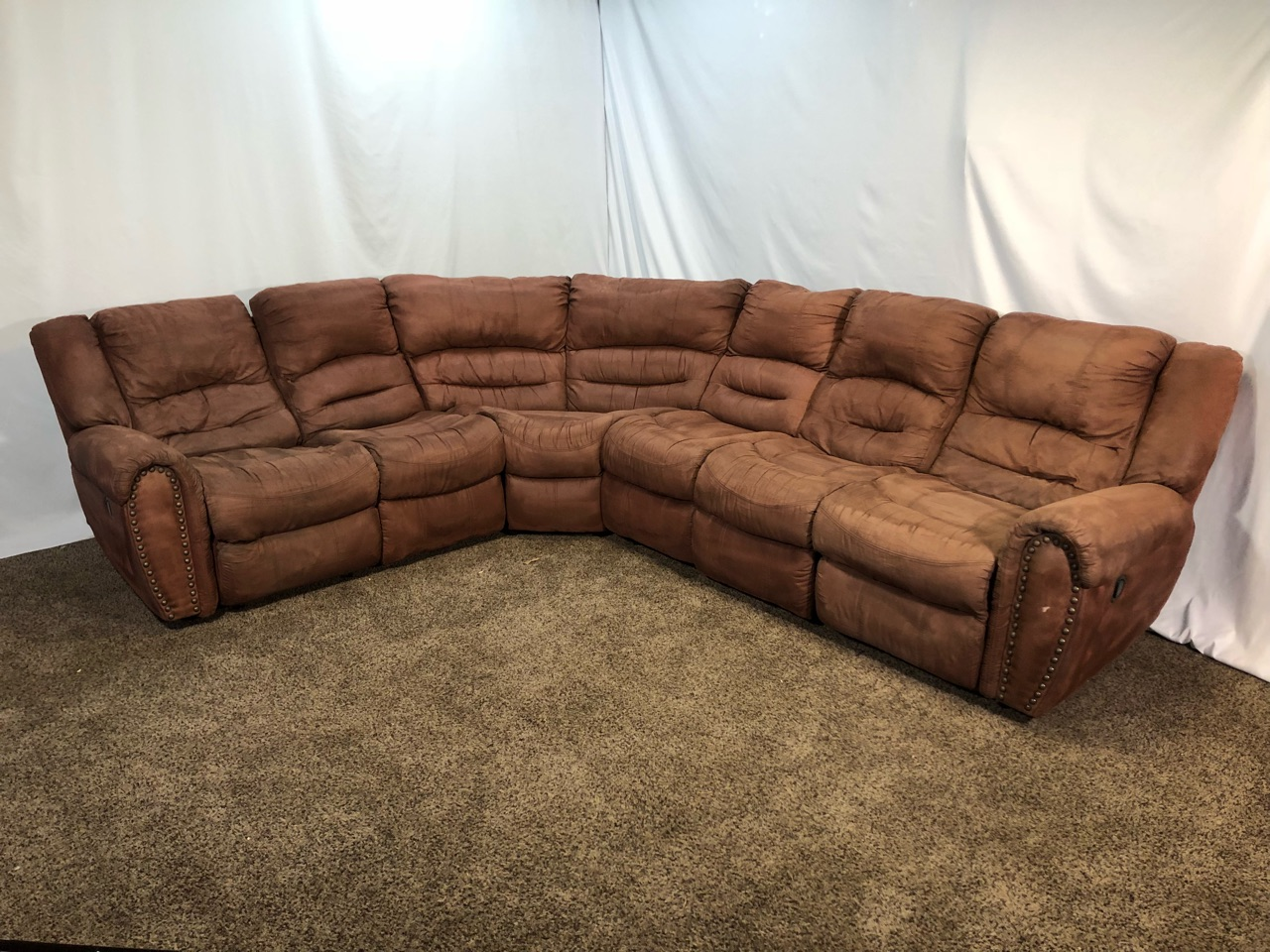 #1554 - Professionally Cleaned Brown Palomino Microfiber ...
