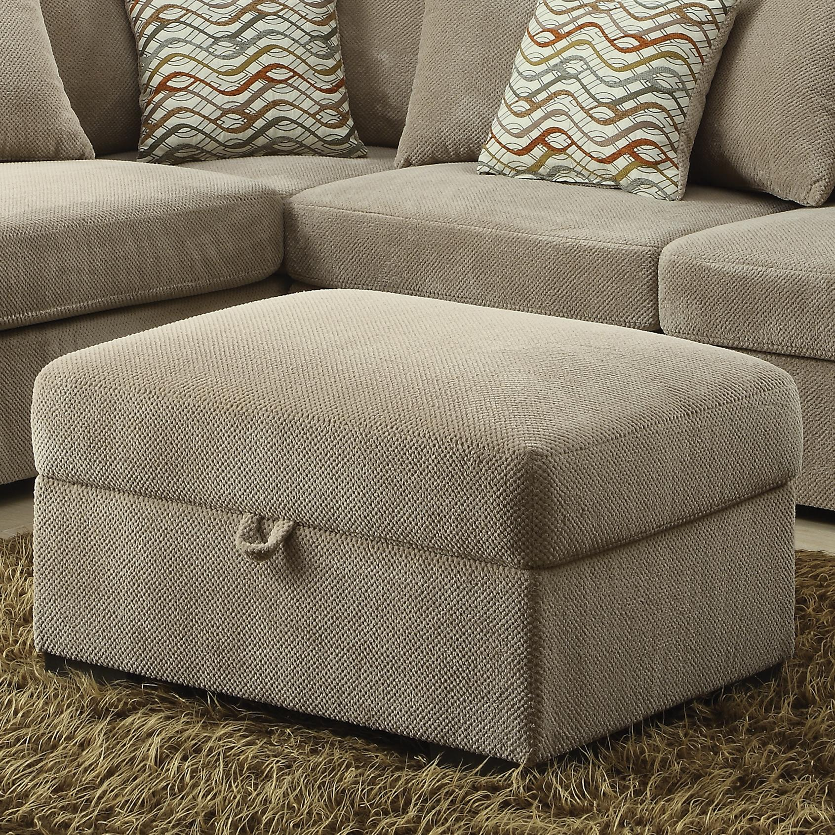 Surprising Taupe Chenille Storage Ottoman Onthecornerstone Fun Painted Chair Ideas Images Onthecornerstoneorg
