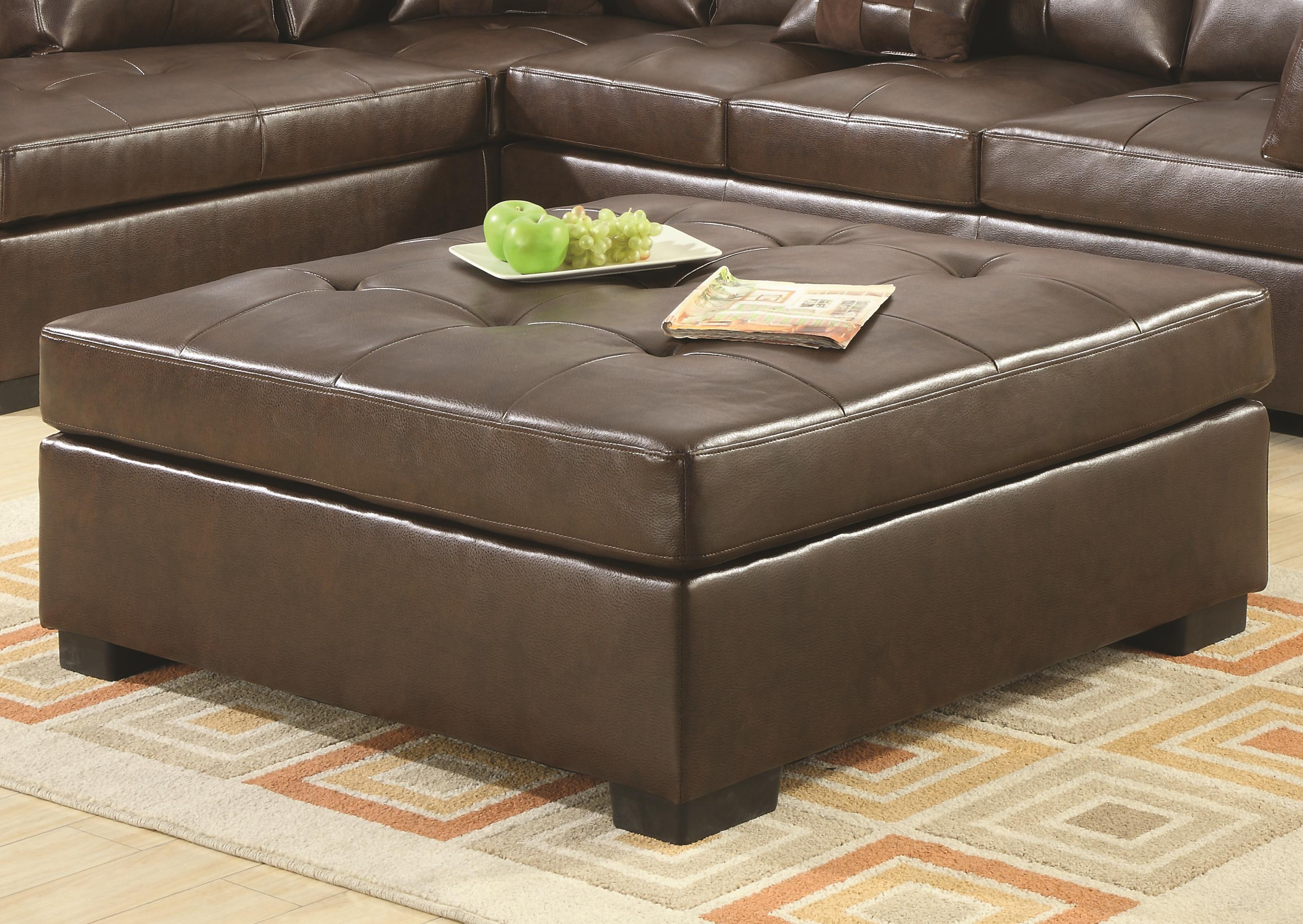 Magnificent Casual Brown Bonded Leather Ottoman Unemploymentrelief Wooden Chair Designs For Living Room Unemploymentrelieforg
